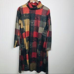 Fall Plaid Aline Dress NEW